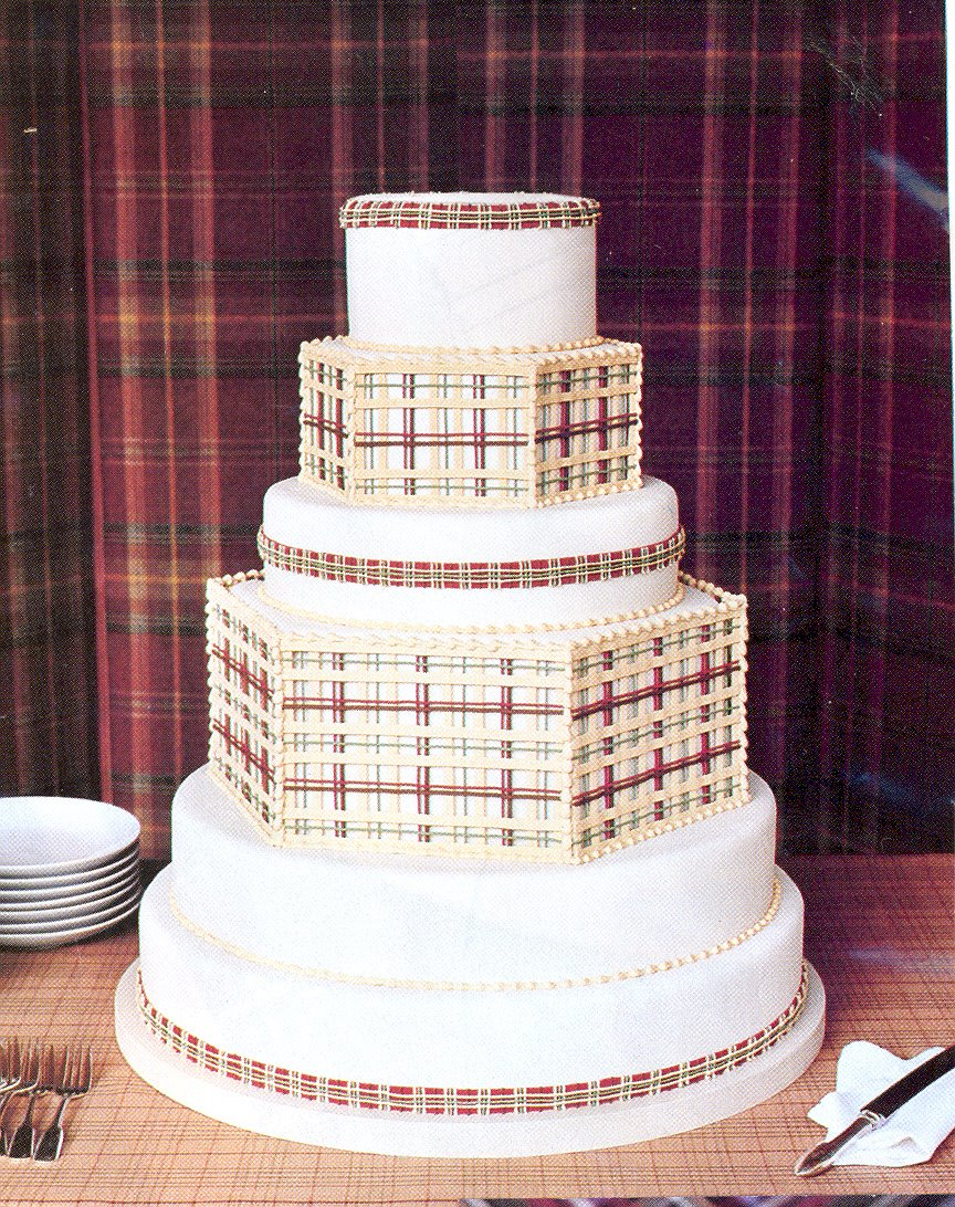 Cake Wrecks Wedding Plaid